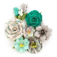 Prima Marketing - Zella Teal Flowers - Wanderer (ZTF 97139)
