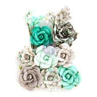Prima Marketing - Zella Teal Flowers - Teal Love (ZTF 97146)
