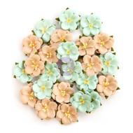 Prima Marketing - Zella Teal Flowers - Bliss Delight (ZTF 97184)