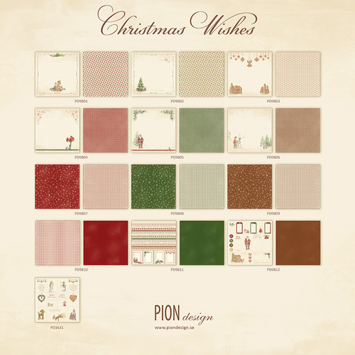 Pion Design - Christmas Wishes - 12 X 12 Collection (PD9800)