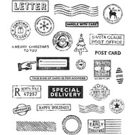 Tim Holtz Cling Rubber Stamp - Holiday Postmarks (CMS323)