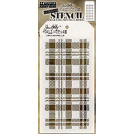 Tim Holtz Layering Stencil - Plaid - THS097