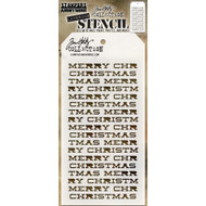 Tim Holtz Layering Stencil - Merry Christmas - THS098