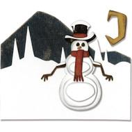 Sizzix Thinlits Dies By Tim Holtz - Snowman Scene
