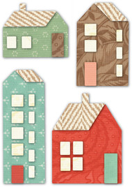 Memory Box Die - Mountain Village Houses Craft Die