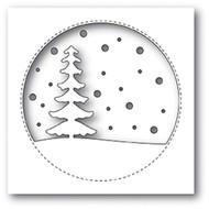 Memory Box Die - Snowy Tree Circle Craft Die