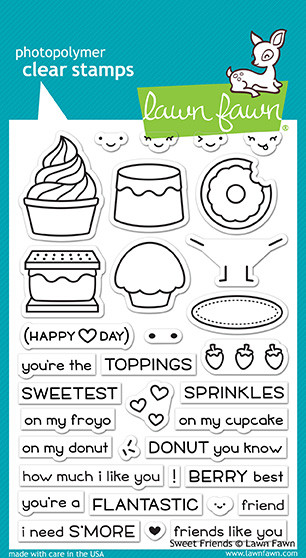 Lawn Fawn Sweet Friends Stamp Set (LF1551)