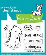 Lawn Fawn RAWR Stamp Set (LF1555)