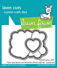 Lawn Fawn How You Bean? Conversation Heart Add-On Lawn Cuts (LF1554)