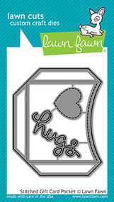 Lawn Fawn Stitched Gift Card Pocket Lawn Cuts (LF1558)