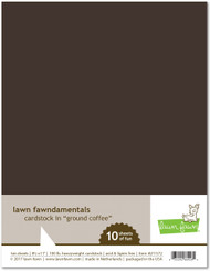 Lawn Fawn - 8.5x11 Cardstock - Ground Coffee (LF1572)