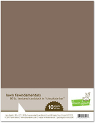 Lawn Fawn - 8.5x11 Cardstock - Chocolate Bar (LF1573)