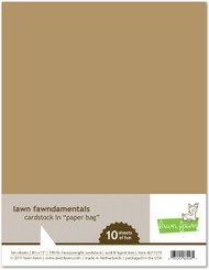 Lawn Fawn - 8.5x11 Cardstock - Paper Bag (LF1574)