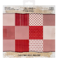 Tim Holtz Idea-ology Paper Stash 8 x 8 - Kraft Stock Christmas