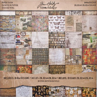 Tim Holtz Idea-ology Paper Stash 8 x 8 -Collage (TH93054)
