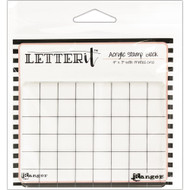 "Ranger Letter It Acrylic Stamp Block 4"" x 3"" (LET60888)"
