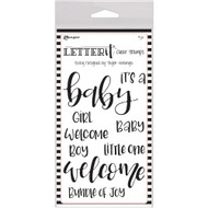 Ranger Letter It Clear Stamp 4 x 6 - Baby (LEC59288)