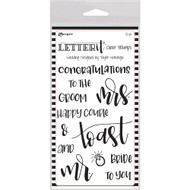 Ranger Letter It Clear Stamp 4 x 6 - Wedding (LEC59332)