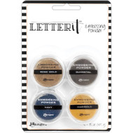 Ranger Letter It Embossing Powder Set - Metallics (LEP58816)