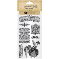 Graphic 45 - Midnight Masquerade - Cling Stamp Set 1 (ICO383)