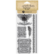 Graphic 45 - Midnight Masquerade - Cling Stamp Set 3 (ICO385)