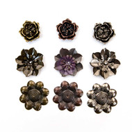 Prima Marketing - Finnabair Mechanicals Metal Flower Embellishments