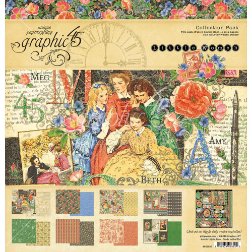 Graphic 45 Little Women - 12 x 12 Collection Pack