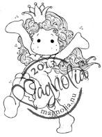 Magnolia Happy Princess Tilda Rubber Stamp