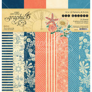 Graphic 45 Sun Kissed - 12 x 12 Prints & Solids Paper Pad