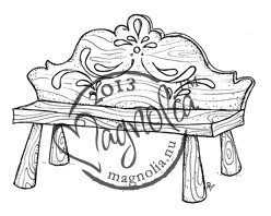 Magnolia Vintage Swedish Bench Rubber Stamp