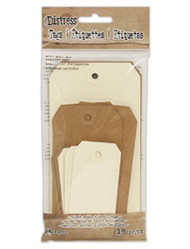 Tim Holtz Distress Tag Assortment - 18PC