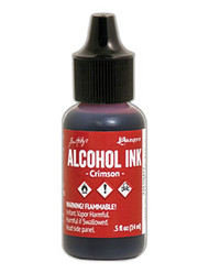 Tim Holtz Alcohol Ink - Crimson 1/2 oz