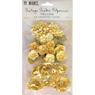 49 and Market Flowers - Vintage Shades Potpourri – Yellow