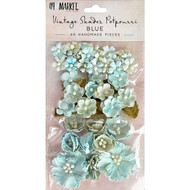49 and Market Flowers - Vintage Shades Potpourri – Blue