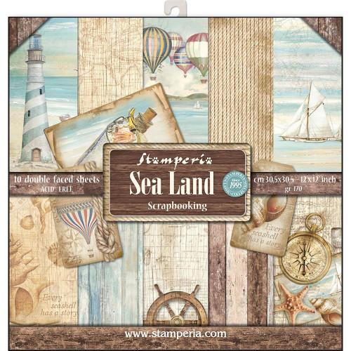 Stamperia - 12 x 12 Paper Pad - Sea Land
