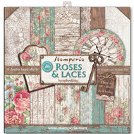 Stamperia - 12 x 12 Paper Pad - Roses & Laces & Wood