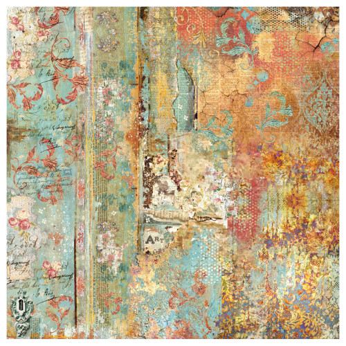 Stamperia - Rice Paper Napkin - Time Is An Illusion Rust