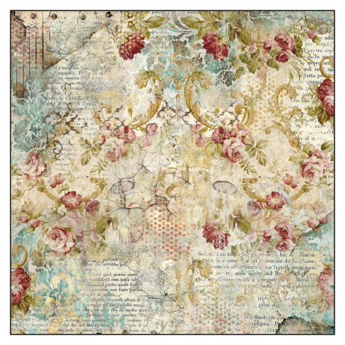 Stamperia - Rice Paper Napkin - Time Is An Illusion Floral
