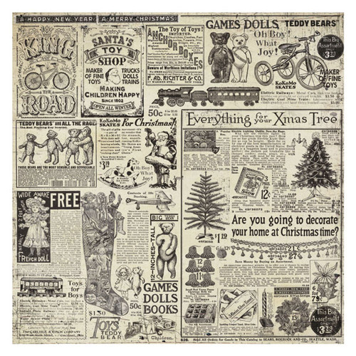 Stamperia - Rice Paper Napkin - Christmas Vintage