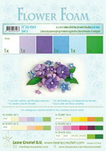 LeCrea Design Flower Foam Sheet Set - Blue/Violet