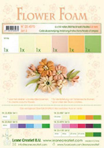 LeCrea Design Flower Foam Sheet Set - Salmon