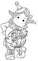 Magnolia Stamps TILDA AS A CLOWN - Once Upon a Time