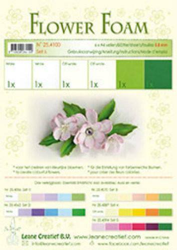 LeCrea Design Flower Foam Sheet Set - White/Green