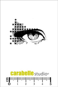 Carabelle Studio Cling Stamp Small - Oeil maquillage d'étoiles