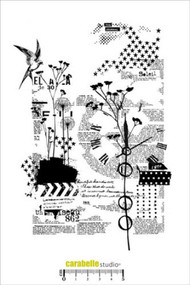 Carabelle Studio Cling Stamp A5 - Collage Nature