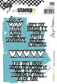 Carabelle Studio Cling Stamp A6 - Smile, Love and Dancing