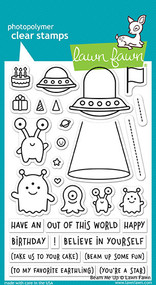 Lawn Fawn Beam Me Up Stamp Set (LF1597)