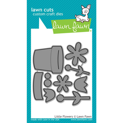 Lawn Fawn Little Flowers Lawn Cut (LF1619)