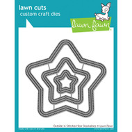 Lawn Fawn Outside In Stitched Star Stackables Lawn Cut (LF1629)
