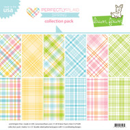 Lawn Fawn Perfectly Plaid Spring Collection Paper Pack 12 x 12 (LF1640)